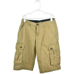 Tommy Hilfiger Tan Cotton Cargo Shorts